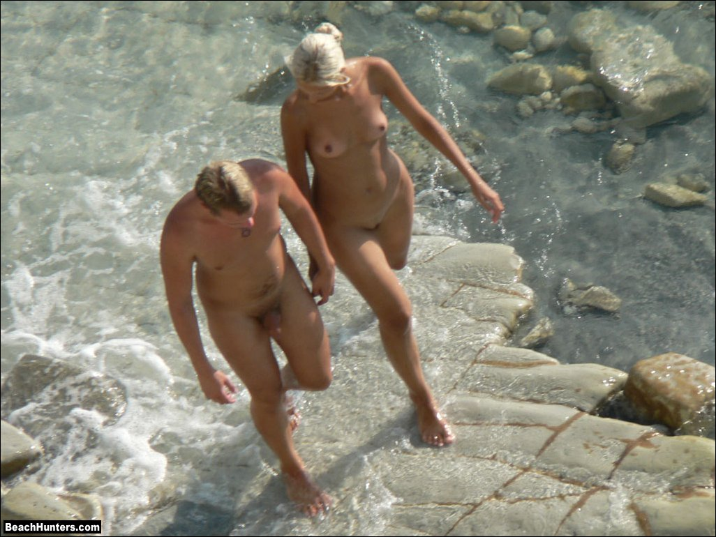 naked beach sex cum
