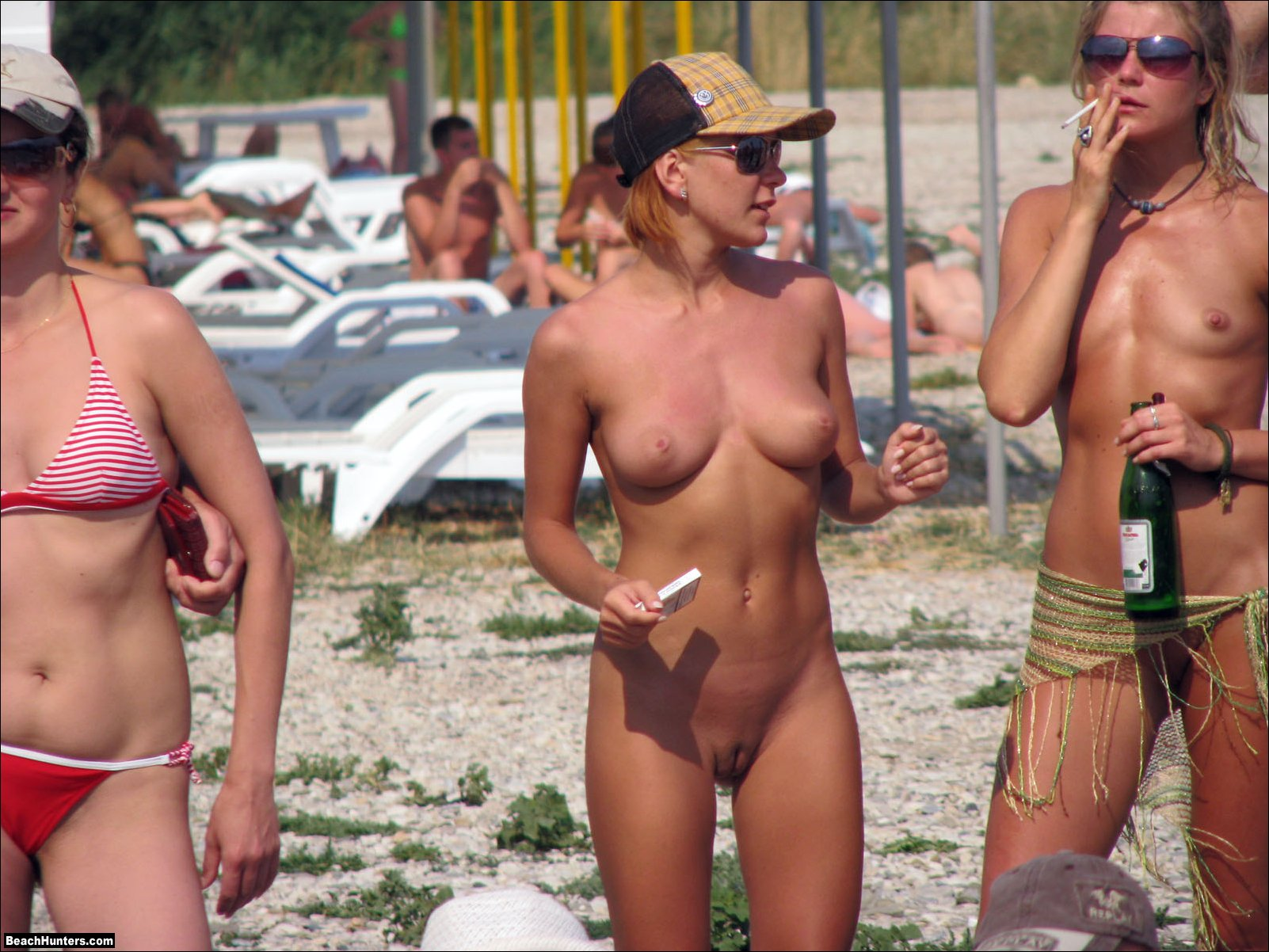 Naked beach volleyball