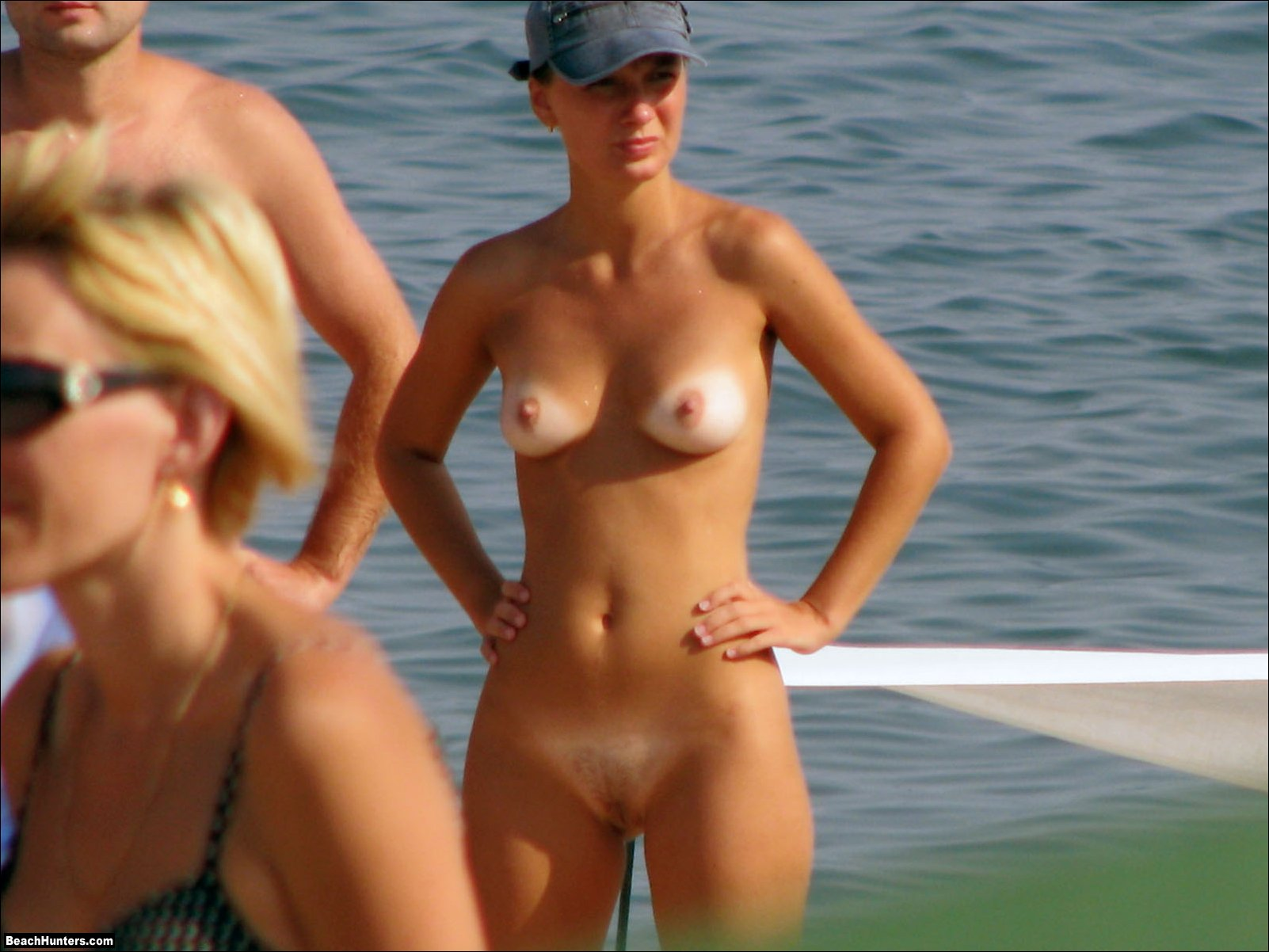 naked women on a beach